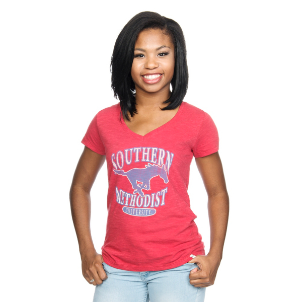 SMU Mustangs 47 V-Neck Scrum Tee