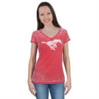 SMU Mustangs 5th & Ocean Burnout V-Neck Tee