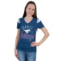 SMU Mustangs 5th & Ocean Fitted V-Neck Tee