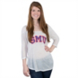 SMU Mustangs Retro 3/4 Sleeve Tee