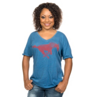 SMU Mustangs Retro Oversized Tee