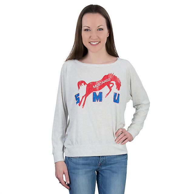 SMU Mustangs Retro Relaxed Raglan Tee