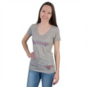 SMU Mustangs Summit Relaxed Linen V-Neck Tee