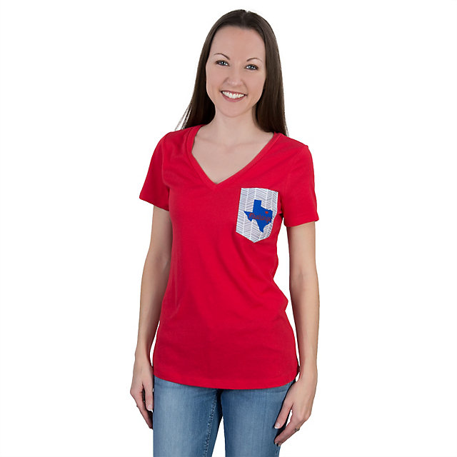 SMU Mustangs Summit V-Neck Pocket Tee