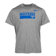 SMU Mustangs Nike Youth Short Sleeve Dri-Fit Tee