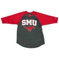 SMU Mustangs Badger Youth Baseball Tee
