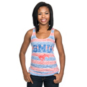 SMU Mustangs Blue 84 Womens Greek Key Tank