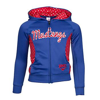 SMU Mustangs Girls Polka Poly Fleece Jacket