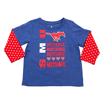 SMU Mustangs Colosseum Toddler Super Cool Layered Tee