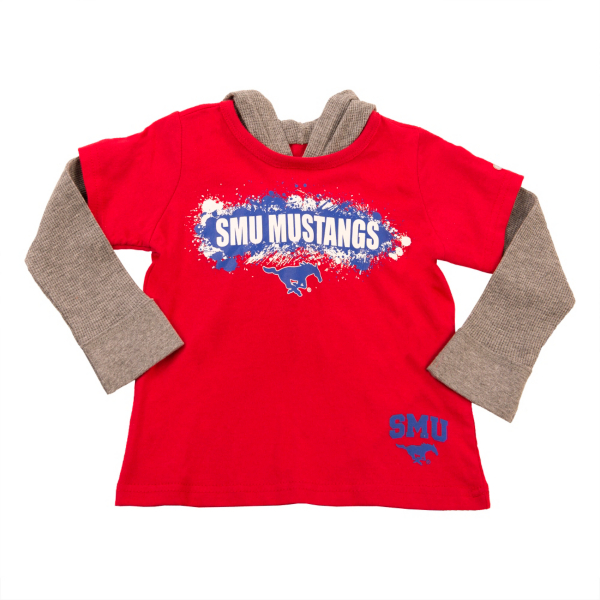 SMU Mustangs Colosseum Toddler Splatter Hooded Tee