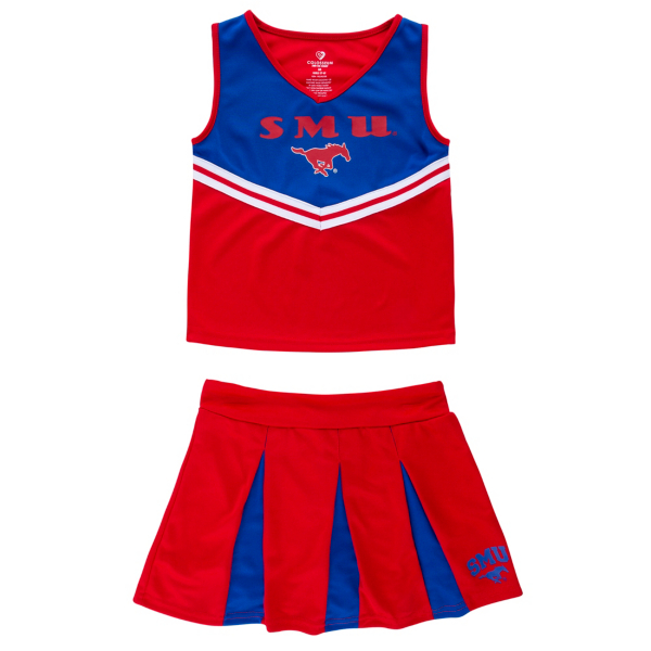 SMU Mustangs Colosseum Girls Pom Pom Cheer Set