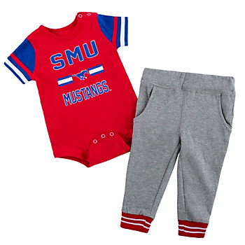 SMU Mustangs Colosseum Infant Boys Long Run Football Onesie & Pant Set
