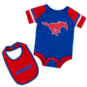 SMU Mustangs Infant Roll-Out Onesie & Bib Set