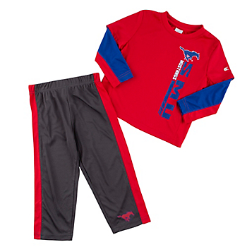 SMU Mustangs Toddler Boys We Got Us Set