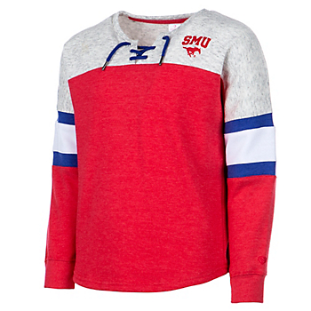 SMU Mustangs Girls Ice Box Oversized Pullover