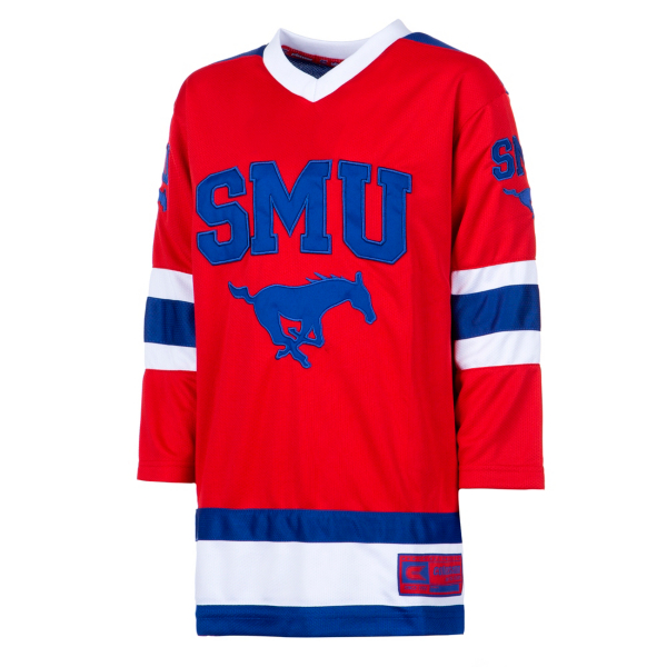 SMU Mustangs Colosseum Youth Athletic Machine Hockey Sweater Jersey