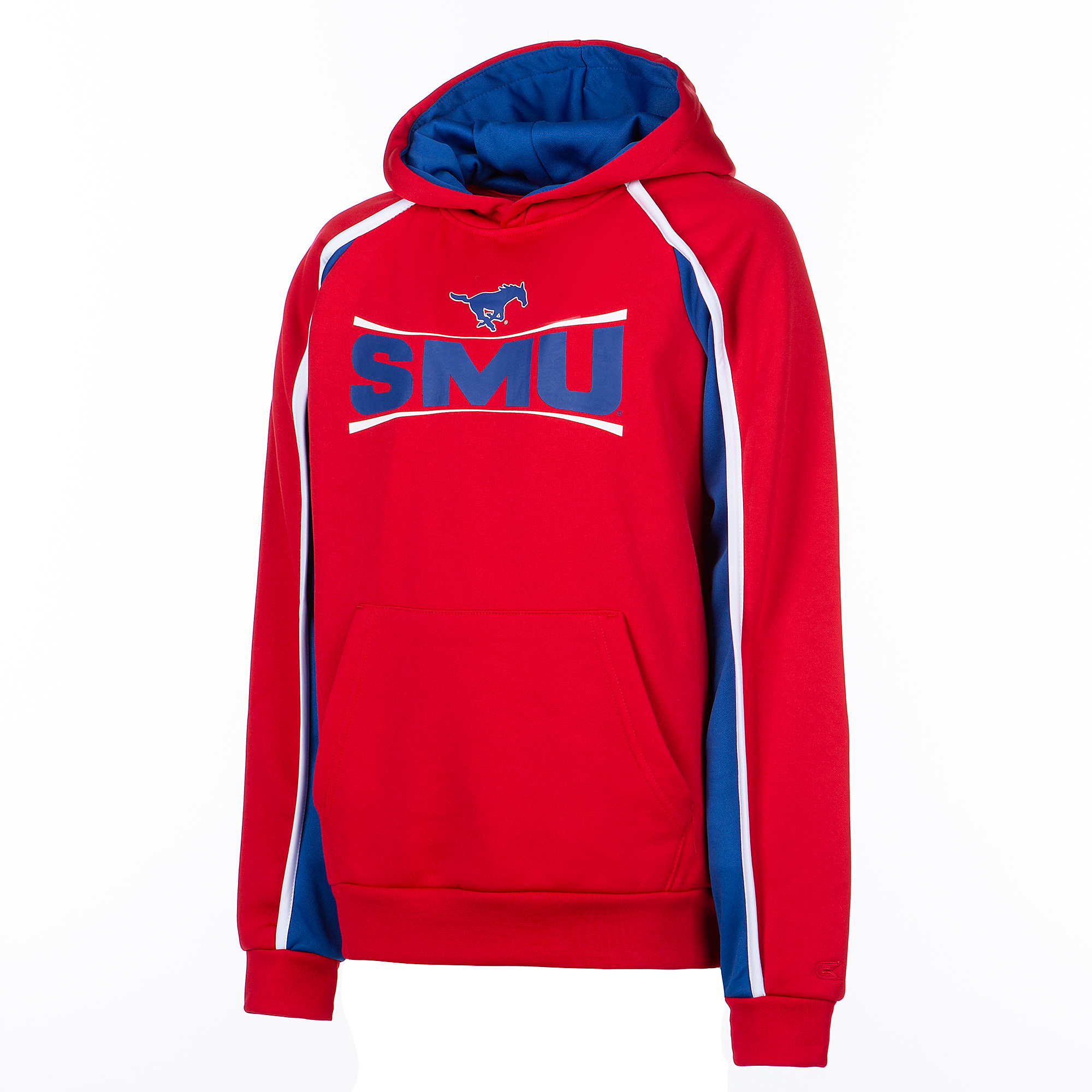 SMU Mustangs Colosseum Youth Hook and Lateral Pullover Hoody