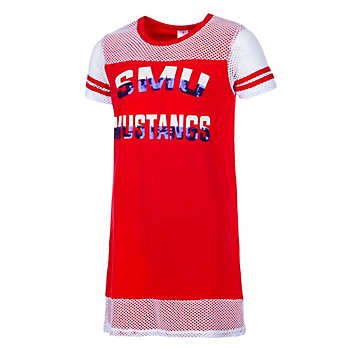 SMU Mustangs Girls Don't Be Talkin' Mesh Dress