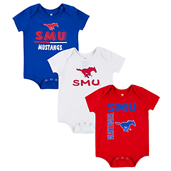 SMU Mustangs Colosseum  Infant Boys Ahh 3-Pack Onesie