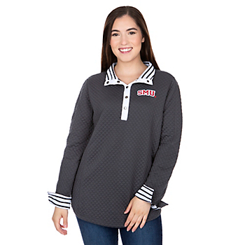 SMU Mustangs Gameday Couture Out of Your League Quarter Button Jacket