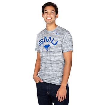 SMU Mustangs Nike Velocity Short Sleeve T-Shirt