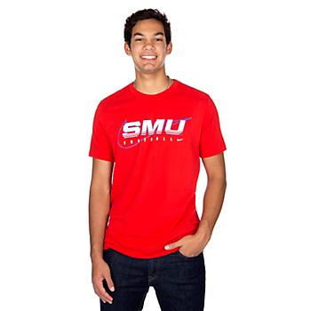 SMU Mustangs Nike Facility Short Sleeve T-Shirt