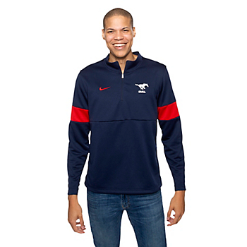 SMU Mustangs Nike Coaches Half-Zip Pullover