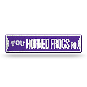TCU Horned Frogs Bling Street Sign