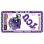 TCU Horned Frogs Decal Combo License Plate Frame