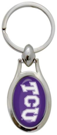 TCU Horned Frogs Teardrop Keychain