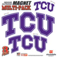 TCU Horned Frogs 12x12 Multi-Pack Magnets