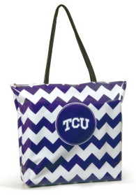 TCU Horned Frogs Chevron Shopper Tote