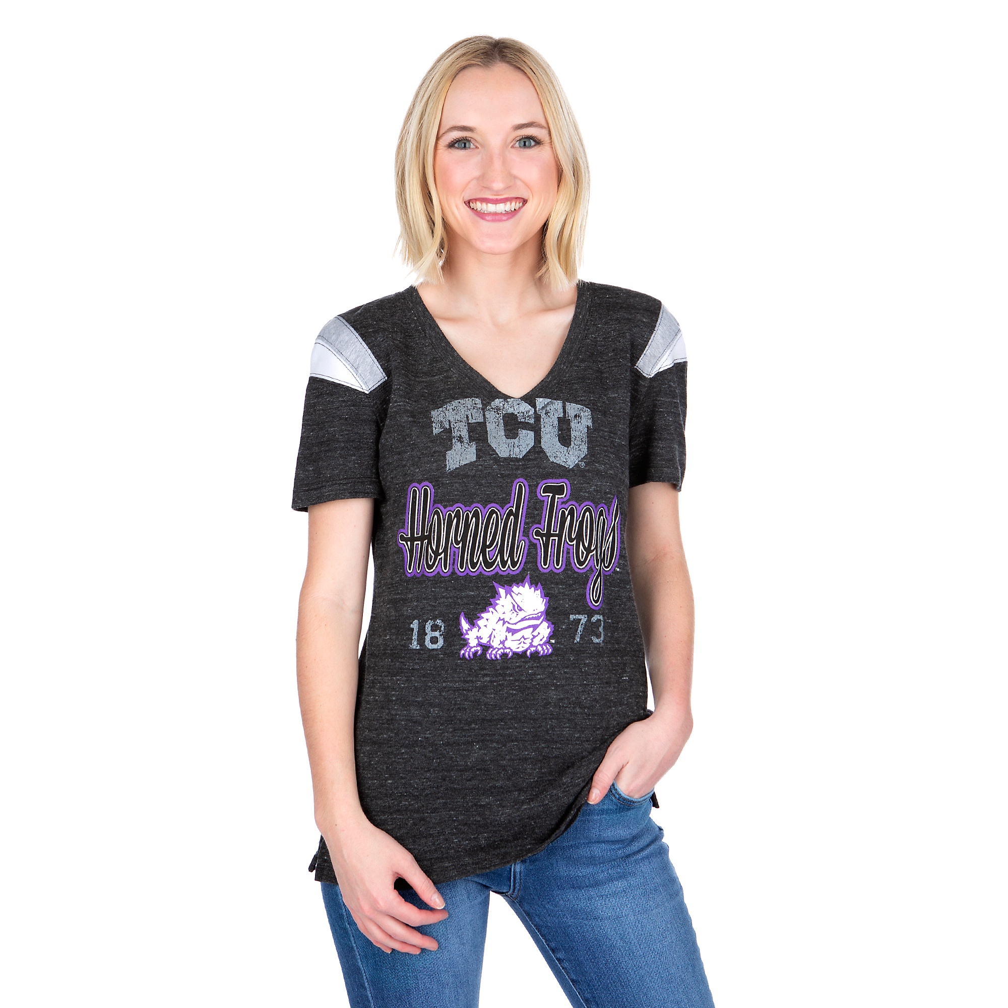TCU Horned Frogs 5th & Ocean Fitted V-Neck Tee
