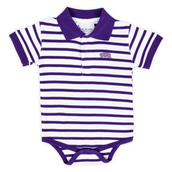 TCU  Horned Frogs Golf Shirt Romper