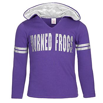 TCU Horned Frogs Girls Glitter Hoodie