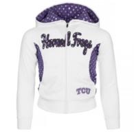 TCU Horned Frogs Girls Polka Poly Fleece Jacket