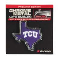 TCU Horned Frogs Texas Shaped Chrome Emblem
