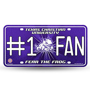 TCU Horned Frogs #1 Fan Bling Metal Tag