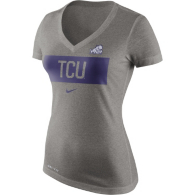 TCU Horned Frogs Nike Womens Tailgate Mid V-Neck Tee