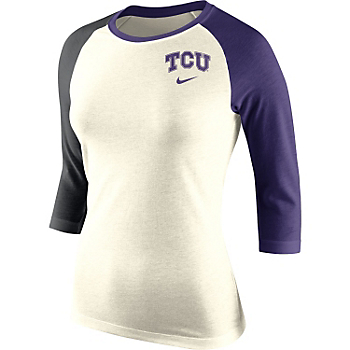 TCU Horned Frogs Nike Womens Strong Side Raglan Tee