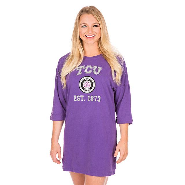 TCU Horned Frogs Womens Tee Shirt Dress