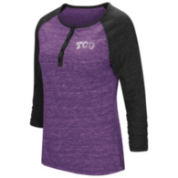 TCU Horned Frogs Colosseum Slopestyle 3/4 Henley Tee