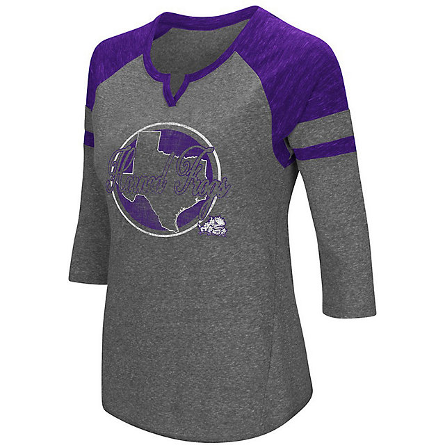 TCU Horned Frogs Colosseum Womens Par 3/4 Sleeve Tee