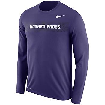 TCU Horned Frogs Nike Sideline Long Sleeve Tee