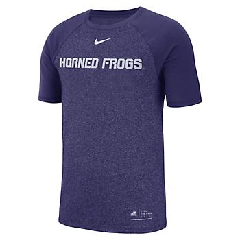 TCU Horned Frogs Nike Marled Raglan Tee