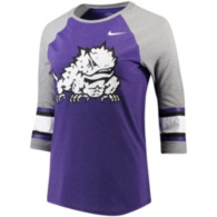 TCU Horned Frogs Nike Womens Stripe Raglan Tee