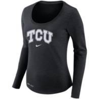 TCU Horned Frogs Nike Womens Long Sleeve Slub Tee