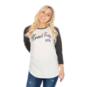 TCU Horned Frogs 47 Womens Gradient Script Raglan T-Shirt