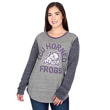 TCU Horned Frogs Pressbox Womens Ariel Long Sleeve T-Shirt