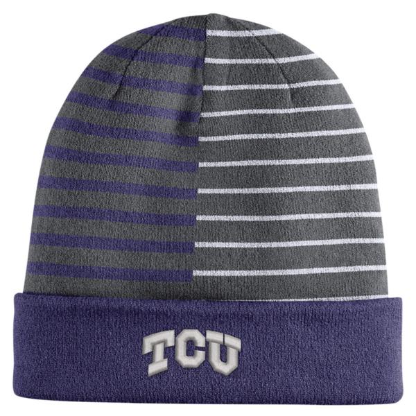 TCU Horned Frogs Striped Knit Hat